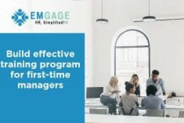 Build effective training program for first-time managers