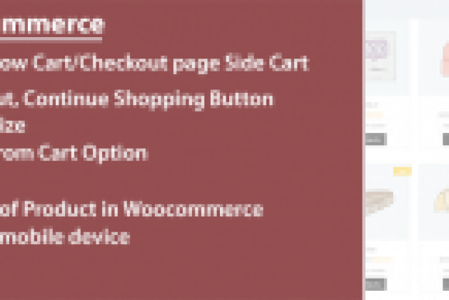 Side Cart For Woocommerce